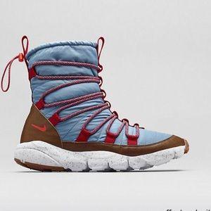 NIKE RARE footscape route blue snow boot men's 12
